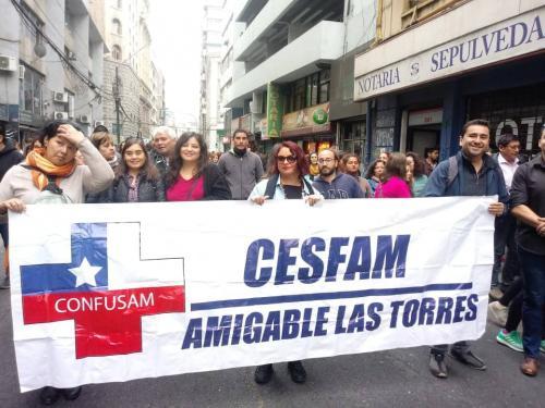 Marcha CUT y adherido por Confusam Viña - 11 de abril